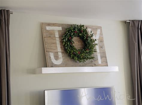 ana white joy holiday sign christmas wall art diy projects