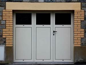 Porte De Garage 3 Vantaux : porte de garage battante en aluminium 3 vantaux ou 4 vantaux menuiseries doumenc ~ Dode.kayakingforconservation.com Idées de Décoration
