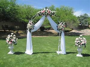 wedding gazebo decorating ideas white wrought iron arch With how to decorate for a wedding