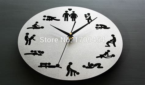 Mirror Wall Clocks Sexual Liberation Design 12'' Fancy