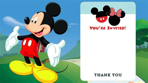 Mickey Mouse Invitations Template by 25 Mickey Mouse Birthday Invitations
