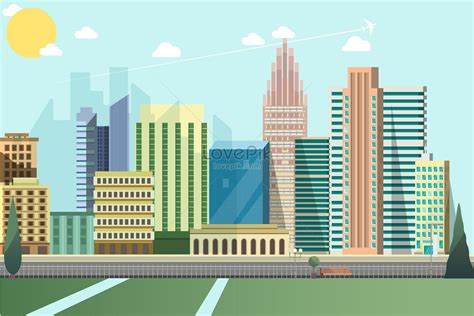 cartoon city vector building illustration imagepicture
