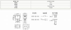 Two Pins On-off 3a 250vac  5a 125vac Abs Rocker Switch Wiring Diagram