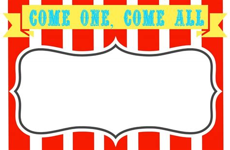 Circus Signs Template by Carnival Clip Clipartion