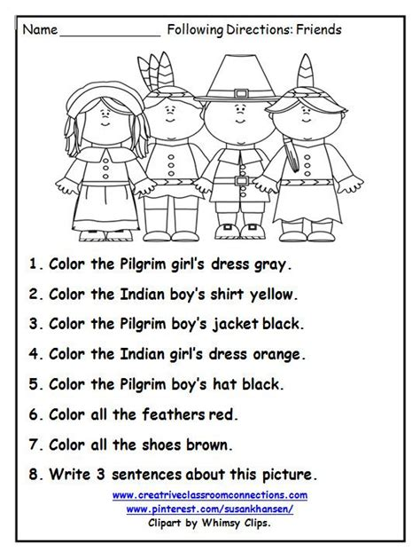 following directions worksheets for second grade the best