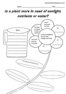 Plants Worksheets Science To Teach Worksheets To Complete The Unit On Plants For Year 1 And 2 Students