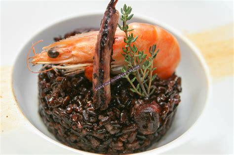 cuisine calamar pilaf de riz noir au calamar et aux crevettes dans ma modeste cuisine