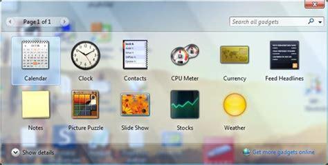 gadgets bureau windows 7 resources of windows 7 gadgets