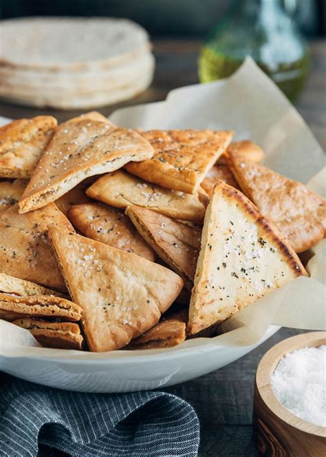 Homemade Pita Chips with Flavor Variations   Striped Spatula