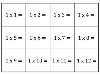 multiplication flash cards for facts 0 12 by southern tpt