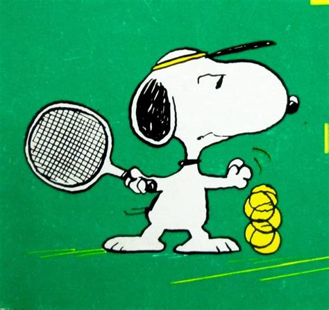 tennis pro collapses   snoopy sports tennis