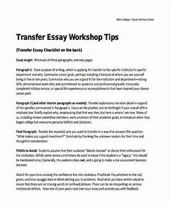 Sample college transfer essay write my essay for me cheap