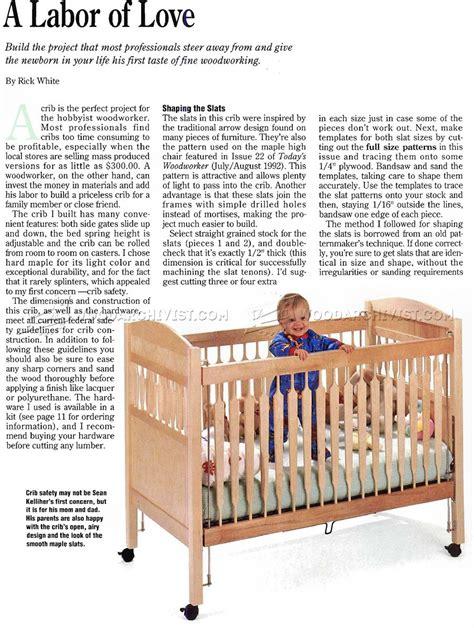 baby crib plans woodarchivist