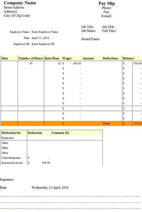 A payslip is how you show wages or salary earned, deductions (including taxes), reimbursements, and employer contributions. 7 Payslip Templates - Excel PDF Formats
