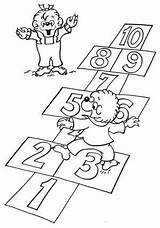Coloring Berenstain Pages Bear Bears Hopscotch Colouring Sheets Count Play Learn Printable Books Sister Brother Berenstainbears Playing Toddler Birthday Did sketch template