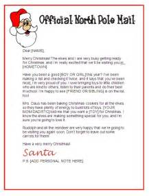 letter from santa template great printable calendars With santa letters 2017