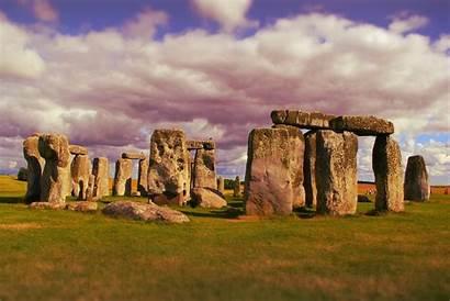 Prehistoric Stonehenge Landmark England Monument Historic Boulder