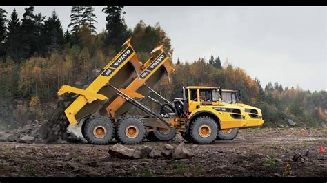 volvo agfs articulated haulers move    youtube