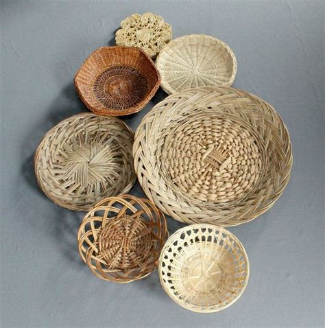 Low basket with handles used for wall decor. 25 best How to Display Vintage Collection images on Pinterest   Basket, Baskets and Rattan