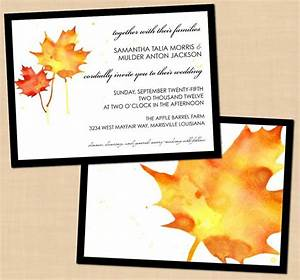free printable fall wedding invitations fall pinterest With free printable autumn wedding invitations