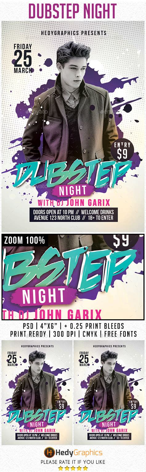 Download Graphicriver Electro Dj Party Flyer Template 6502526 by Dubstep Guest Dj Flyer Template Pinterest Flyer