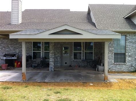 painted patio cover roof to gable caddo mills hundt