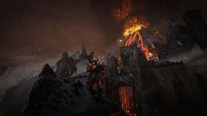 Volcano Fantasy Epic Snow 1080p Unreal Engine