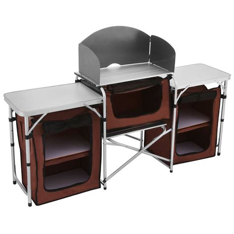 portable cing kitchen table cing kitchen cooking table food prep food storage