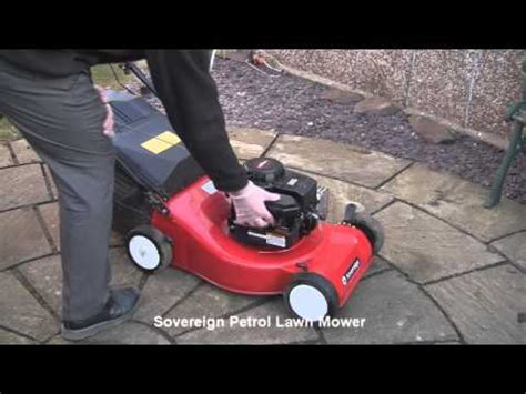 sovereign petrol lawn mower test review youtube