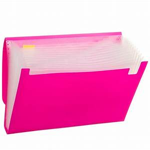 A4 Expanding File 13 Pockets - Pink | Filing - B&M  File