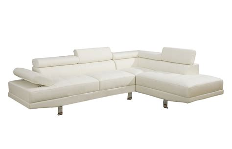 2 Piece Faux Leather Sectional Sofa Home Furniture Design
