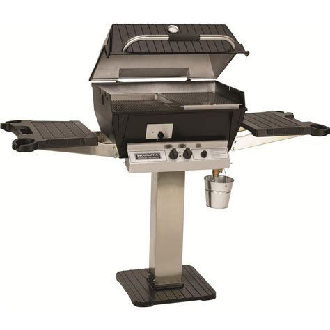 broilmaster q3x qrave propane gas grill on stainless steel