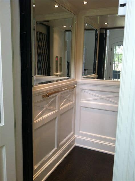 classic home elevator wainscot  mirrors nashville