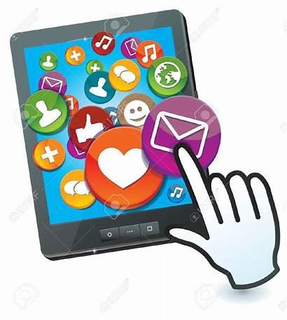 Social Tablet Pc Icons Clipart Sociale Pictogrammen