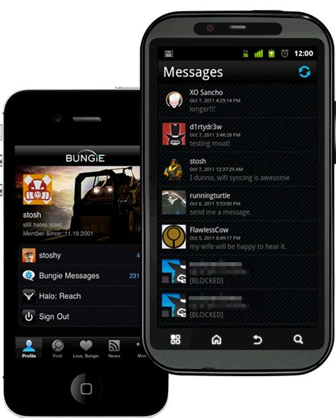 Bungie Mobile by Bungie Net Mobile App 10 19 2011 10 19 Am Pdt