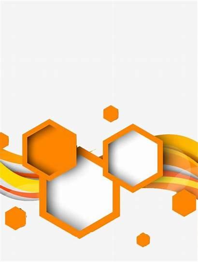 Shape Geometric Orange Hexagon Deco Clipart Background