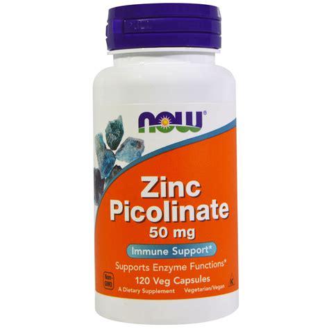 cuisine zinc now foods zinc picolinate 50 mg 120 veggie capsules
