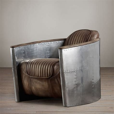aviator desk chair restoration hardware 13 designs that bring reclaimed airplane parts into your home