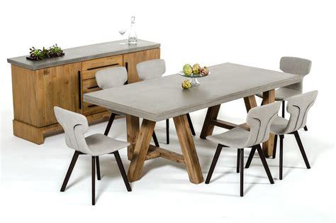 modrest civic modern concrete acacia dining table