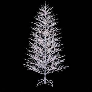 ge 7 ft white winter berry branch tree with clear and frost white lights 21732hd the home depot