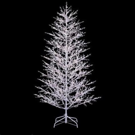 ge 7 ft white winter berry branch tree with clear and