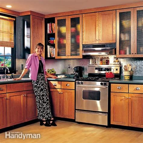 how to refinish kitchen cabinets how to refinish kitchen cabinets the family handyman