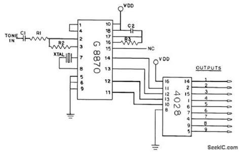 Dtmf Receiver Decoder Basic Circuit Diagram