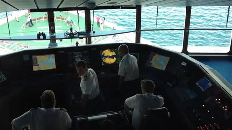 Ship Bridge by Captain Bridge On Cruise Ship Youtube