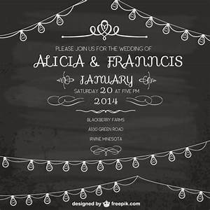 vintage wedding invitation vector free download With black and white wedding invitations vector