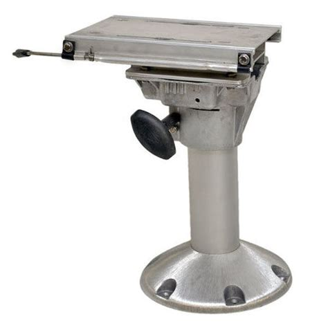 Boat Seat Pedestal Lubricant by Springfield Fixed Height 14 5 8 Inch Anodized Aluminum