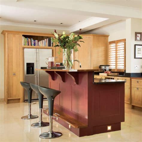 kitchen with split level island unit kitchen design