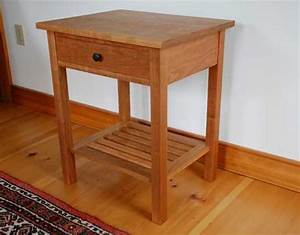 Vermont Handmade Mission End Table in Cherry, Walnut or