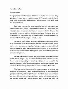 Holiday Essay Sample Assignment Of Contract Proceeds Best Holiday  My Summer Holiday Essay Sample Pdf Thesis Statements For Persuasive Essays also Compare And Contrast Essay Examples High School  Thesis Statements Examples For Argumentative Essays