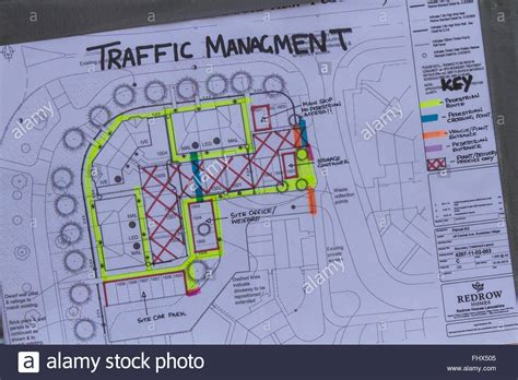 Mis-spelt Traffic Management & Safety Site Plan For Redrow